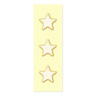 Galleta helada de la estrella Amarillo y crema Tarjeta De Visita