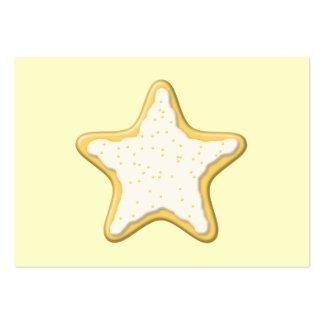 Galleta helada de la estrella. Amarillo y crema Tarjetas De Visita Grandes