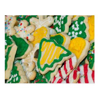 Galletas de azúcar hechas en casa heladas postal