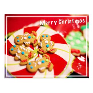 Galletas de las Felices Navidad Postal