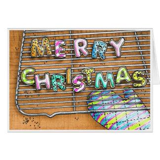Galletas de las Felices Navidad Tarjeta De Felicitación