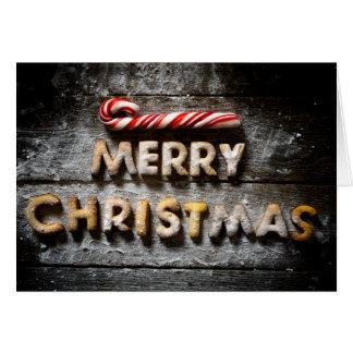 Galletas de las Felices Navidad - tarjeta doblada