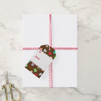 Galletas del día de fiesta del navidad del color etiquetas para regalos