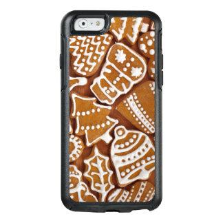 Galletas del día de fiesta del pan de jengibre del funda otterbox para iPhone 6/6s