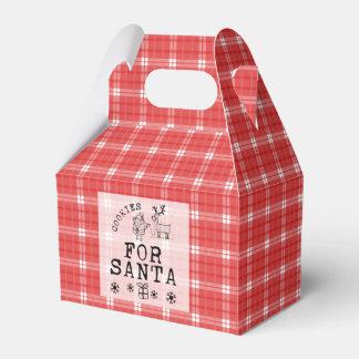 Galletas del navidad para la caja del favor del