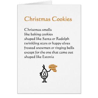 Galletas del navidad - un poema divertido del tarjeta de felicitación