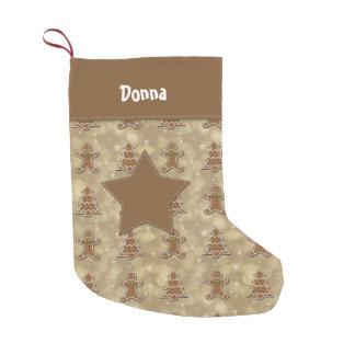 Galletas del pan de jengibre con la estrella - calcetín de navidad pequeño