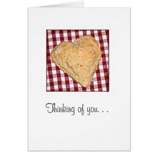 Galletas en forma de corazón tarjeta de felicitación