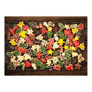 Galletas hechas en casa del navidad invitación 12,7 x 17,8 cm