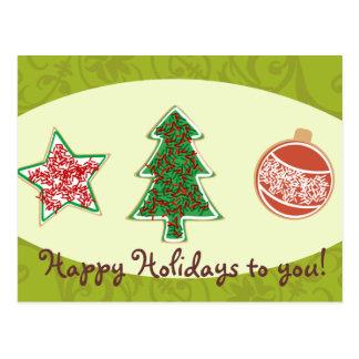 Galletas hechas en casa del navidad postal