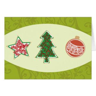 Galletas hechas en casa del navidad tarjetas