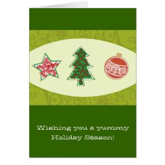 Galletas hechas en casa del navidad tarjeta de felicitación