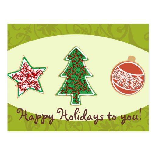 Galletas hechas en casa del navidad tarjeta postal