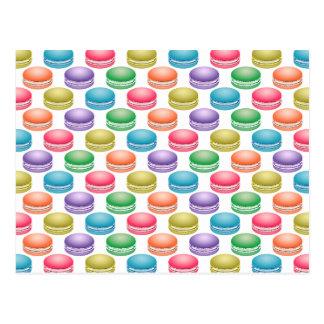 Galletas Macarons colorido del arte pop Postal