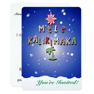 Galletas y caramelo hawaianos 2,0 del pan de invitación 12,7 x 17,8 cm