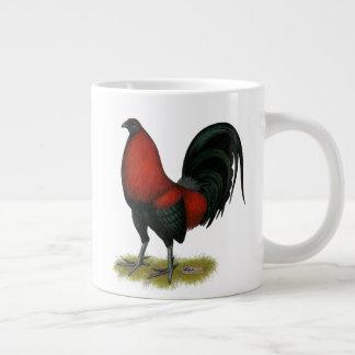 Gallo americano del rojo del negro del BB del Taza De Café Gigante
