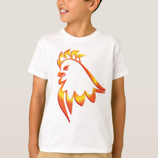 Gallo ardiente camiseta