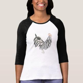 Gallo de la cebra del safari camisas