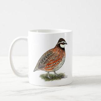 Gallo de las codornices taza de café