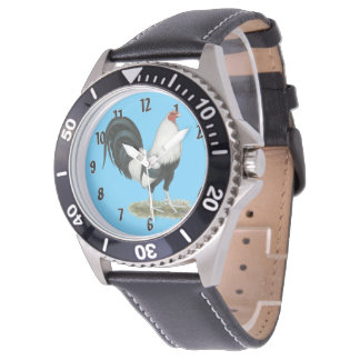Gallo de pelea de plata de Duckwing Reloj De Pulsera