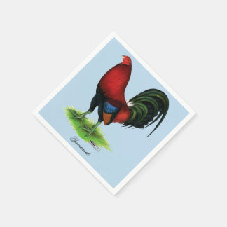 Gallo de pelea:  Rojo oscuro Servilletas De Papel
