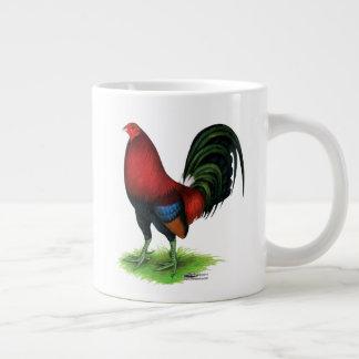 Gallo de pelea:  Rojo oscuro Taza De Café Gigante
