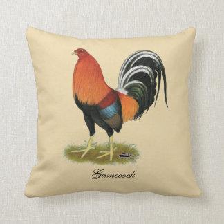 Gallo de trigo del gallo de pelea cojín decorativo