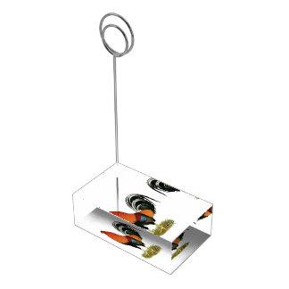 Gallo de trigo del gallo de pelea soporte para tarjetas de mesa