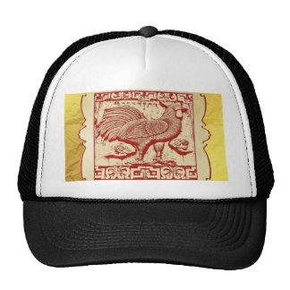 Gallo del efecto del sello en el marco, mirada gorras de camionero