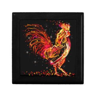 Gallo del fuego. Diseño fresco de la chispa animal Caja De Regalo