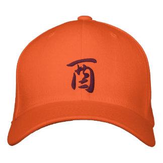 Gallo del gorra del zodiaco del kanji gorra de béisbol bordada