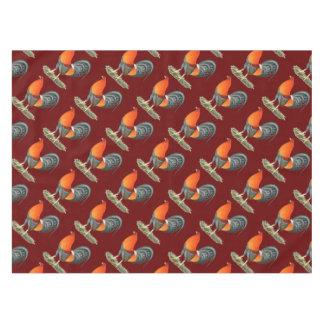 Gallo del rojo azul del gallo de pelea mantel