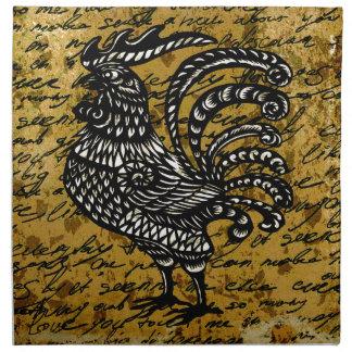 Gallo del vintage servilleta de tela