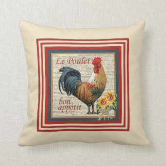 Gallo francés del país cojín decorativo
