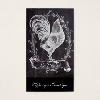 gallo francés del país de la pizarra elegante tarjeta de visita