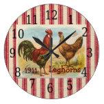Gallo francés del país, reloj de la impresión de