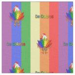 Gallo hermoso con De Colores Tela