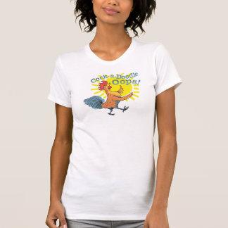 ¡Gallo-uno-Doodle Oops! la camiseta de las mujeres