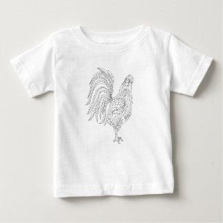 Gallo vivo del país camiseta de bebé