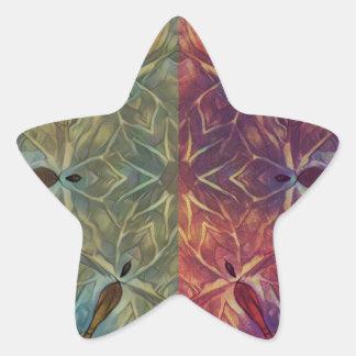 Galón frondoso pegatina en forma de estrella