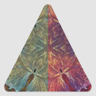 Galón frondoso pegatina triangular