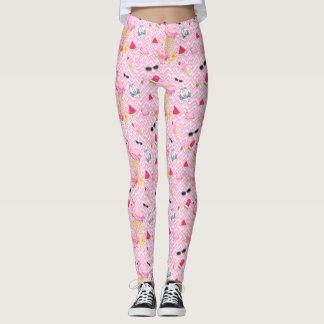 galón rosado, polainas de la diversión del verano leggings