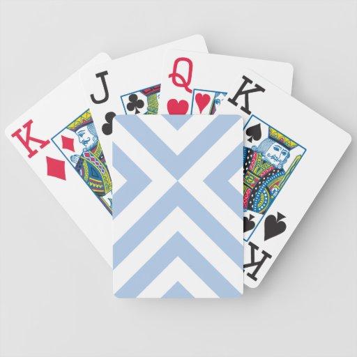 Galones azules claros y blancos baraja de cartas