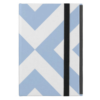 Galones azules claros y blancos iPad mini cárcasas