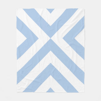 Galones azules claros y blancos manta de forro polar
