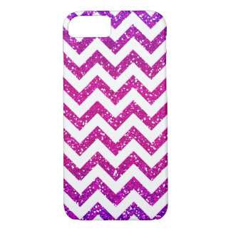 Galones blancos frescos de Ombre del brillo Funda iPhone 7