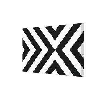 Galones blancos y negros impresión en lona estirada