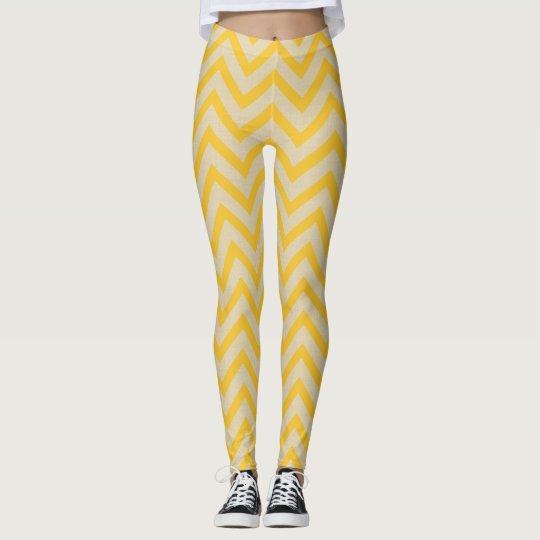 Galones de los humores de la especia del azafrán leggings