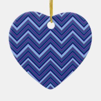 Galones del azul del dril de algodón adorno navideño de cerámica en forma de corazón