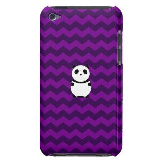 Galones lindos de la púrpura de la panda del bebé iPod Case-Mate fundas